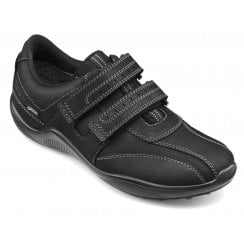 Energise Std Fit Black Gore-Tex Waxed Nubuck Twin Velcro Shoe