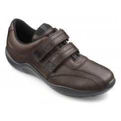 Energise Std Fit Conker Leather Twin Velcro Shoe