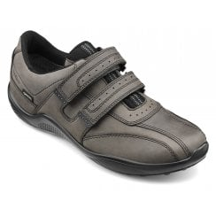 Energise Std Fit Smoke Gore-tex Waxed Nubuck Twin Velcro Shoe