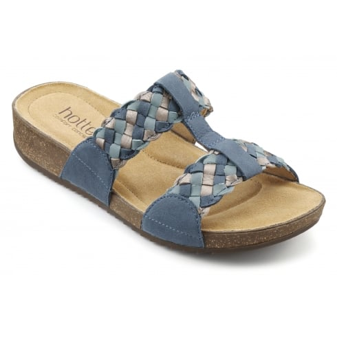 c44a0a1fad2 Hotter Escape Blue River Multi Flat Slip On Sandal - Hotter from The Shoe  Box Yarm UK