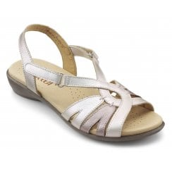 Flare Iridescent Multi Wide Fit Leather Flat Velcro Sandal