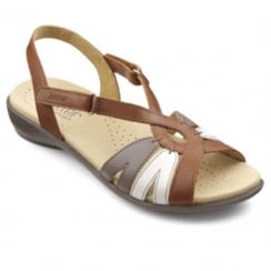 Flare Tan Multi Std Fit Sandal
