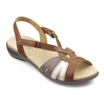 Flare Wide Fit - Tan Multi Leather