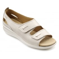 Florence Wide Fit - Beige Leather