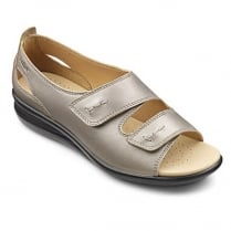 Florence Wide Fit - Nickel Metallic Leather