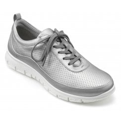Gravity Platinum Std Fit Leather Flat Trainer Style Shoe