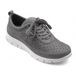 Gravity Slate Nubuck Std Fit Flat Lace Up Trainer Style Shoe