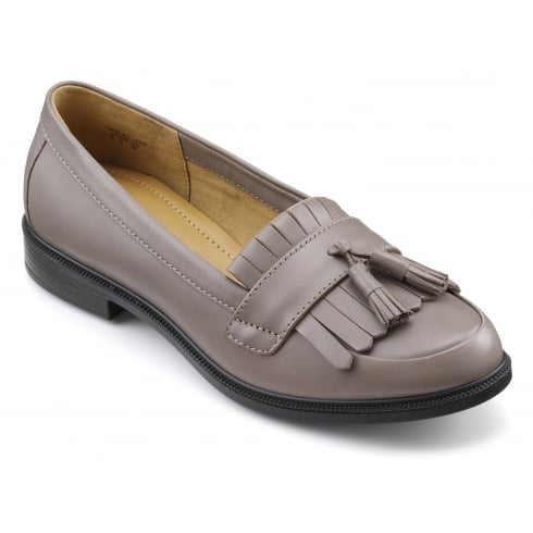 Hotter Hamlet Flint Leather Flat Moccasin Style Shoe.