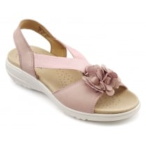 Hannah Powder Pink Nubuck Flat Slip On Sandal