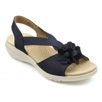 Hannah Wide Fit - Navy Nubuck