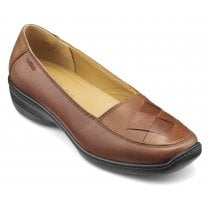 Havana Dark Tan Leather Std Fit Slip On Shoe