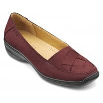 Havana Maroon Nubuck Std Fit Slip On Shoe