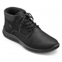 Hydro Black Std Fit Waxed Nubuck Gore-tex Lace Up Boot