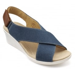 Jasmine Blue River Cross Over Wedge Sandal