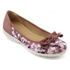 Jewel Dappled Pink Nubuck Flat Ballet Pump Shoe