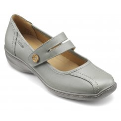 Karen Std Fit Duck Egg Leather Flat Mary Jane Style Shoe
