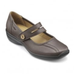 Karen Std Fit Mushroom Leather Flat Mary Jane Style Shoe