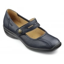 Karen Std Fit Navy Leather Flat Mary Jane Style Shoe