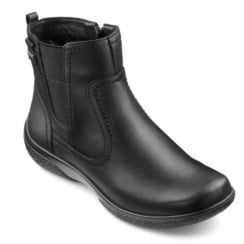 Kendal Std Fit black leather gortex ankle boot with side zip