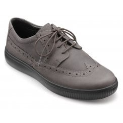 Kingston Smoke Std Fit Waxed Nubuck Brogue Style Shoe