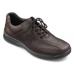 Lance Std Fit Dark Brown Leather Lace Up Shoe