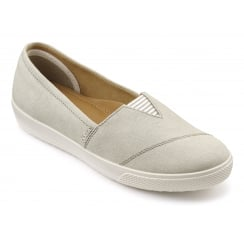 Laurel Wide Fit - Cream Textile