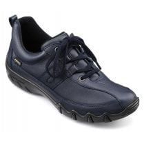 Leanne Navy Std Fit Gore-Tex Flat Lace Up Trainer Shoe