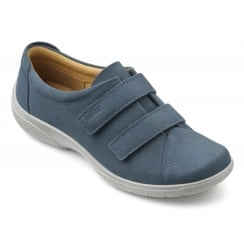 Leap Blue River Nubuck Twin Velcro Strap Shoe