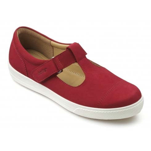 Hotter Lily Crimson Red Std Fit Shoe