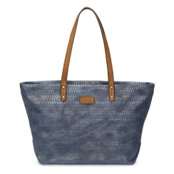Lucy Blue River Canvas Print Shopper Handbag