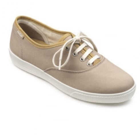 Hotter Mabel Beige Std Fit Shoe