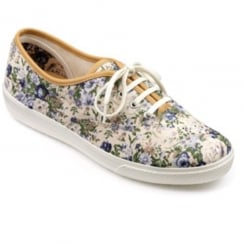 Mabel Beige vintage floral Std Fit Shoe