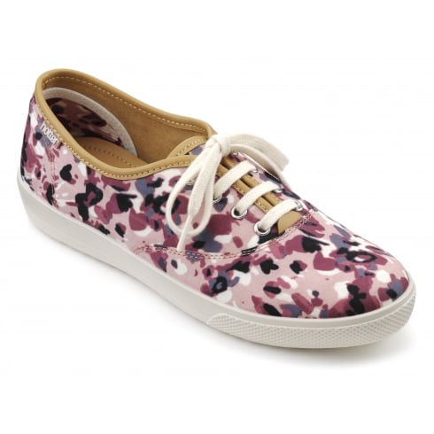 Hotter Mabel Dappled Pink Plimsoll Style Shoe