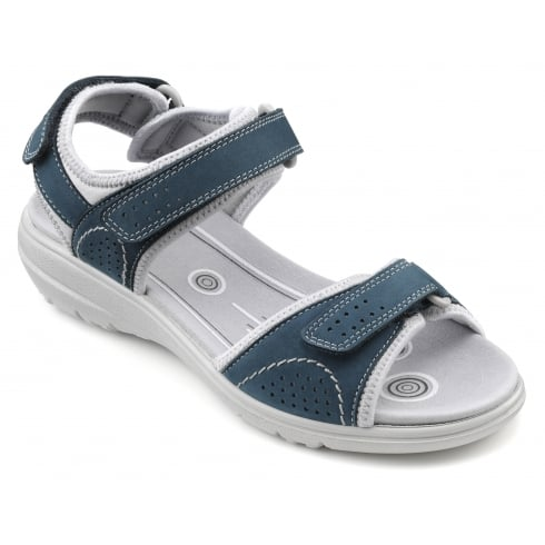 Hotter Mae Blue River Nubuck Sporty Style Sandal