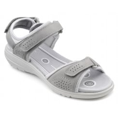 Mae Pebble Grey Nubuck Sporty Style Sandal