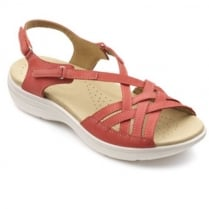 Maisie Coral Nubuck Leather Wide Fit Sandal