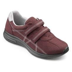 Maroon/purple flat velcro trainer style shoe