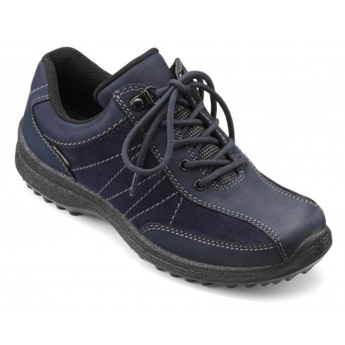 Mist Std Fit Rich Navy Gore-Tex Nubuck/Suede Flat Walking Shoe