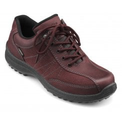 Mist Wide Fit Maroon Gore-Tex Nubuck/Suede Flat Walking Shoe