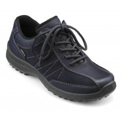 Mist Wide Fit Rich Navy Gore-Tex Nubuck/Suede Flat Walking Shoe