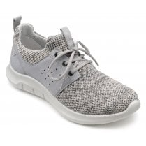 Motion Pebble Grey Multi Std Fit Lace Up Trainer Style Shoe
