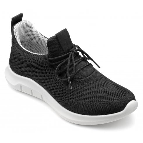 Hotter Move Black Std Fit Lace Up Trainer Style Shoe