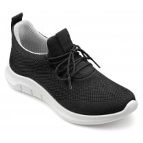 Move Black Std Fit Lace Up Trainer Style Shoe