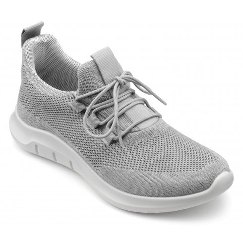Hotter Move Pebble Grey Std Fit Lace Up Trainer Style Shoe
