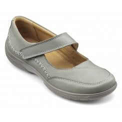 Mystic Std Fit Duck Egg Leather/Nubuck Flat Mary Jane Style Shoe