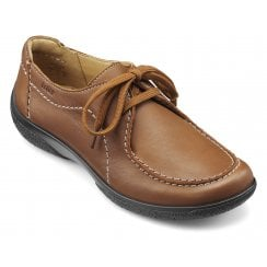 Nomad Std Fit Dark Tan Leather Flat Lace Up Shoe