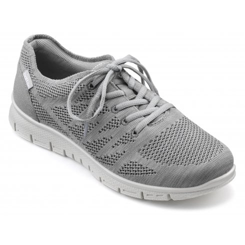 Hotter Nova Std Fit Pebble Grey Flat Trainer Style Shoe