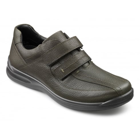 Hotter Olive leather Velcro shoe