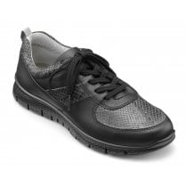 Orbit Black Std Fit Leather Lace Up Trainer Style Shoe
