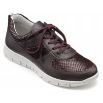 Orbit Plum Std Fit Leather Lace Up Trainer Style Shoe